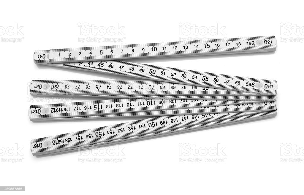 Carpentry ruler stock photo