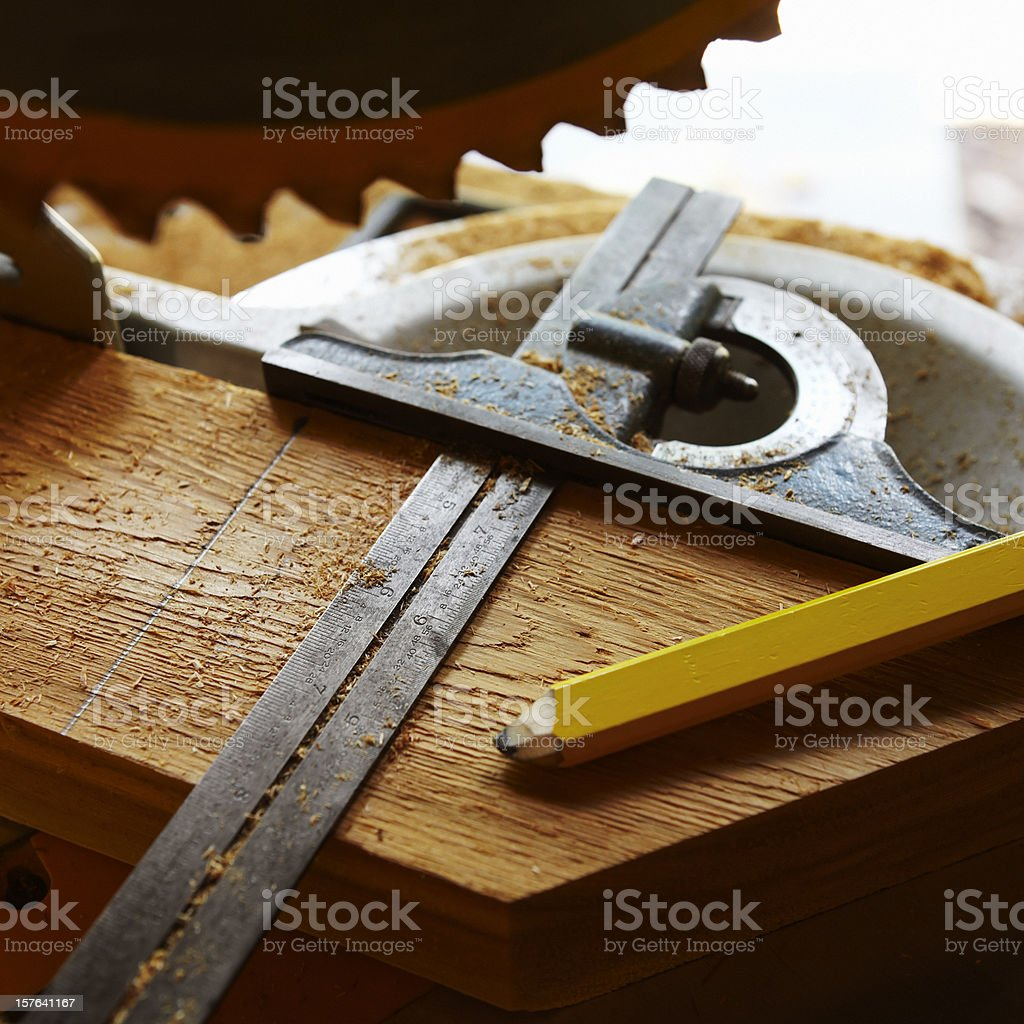 Carpentry Tools royalty-free stock photo