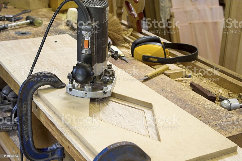 Carpentry Tools - Router And Jig royalty-free stock photo
