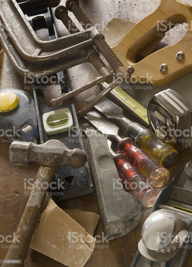 Carpentry Tools Vt royalty-free stock photo