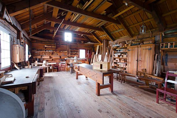 Menuiserie, outils et bois workpieces - Photo