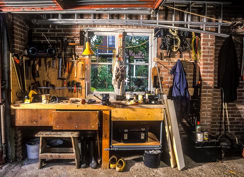 Carpentry workshop  in garage