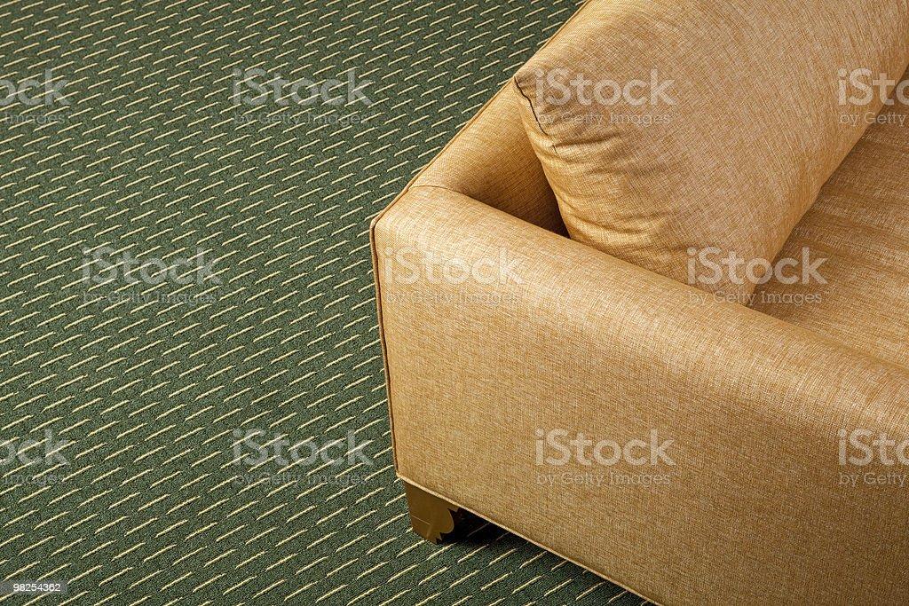 카펫 및 암체어 royalty-free 스톡 사진