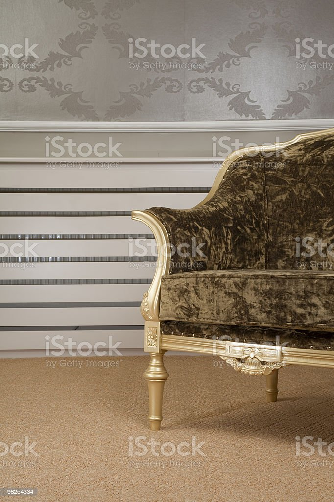 carpet and chair royalty-free stock photo