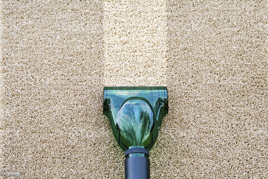 Carpet and vacuum stock photo