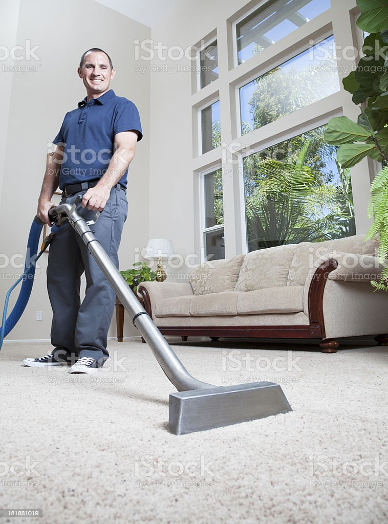 Carpet Cleaning royalty-free stock photo