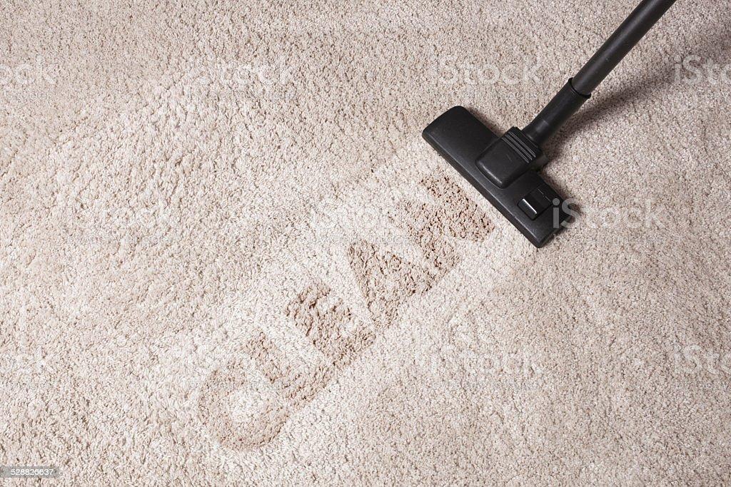 Staub, reinigen Teppich mit Staubsauger – Foto