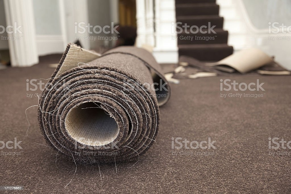 Carpet Fitting royalty-free stock photo