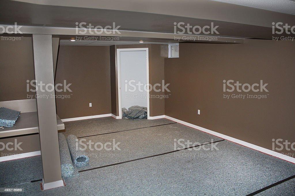 Carpet Pad Instalation stock photo