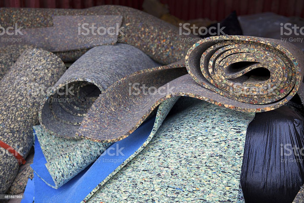 Carpet padding stock photo