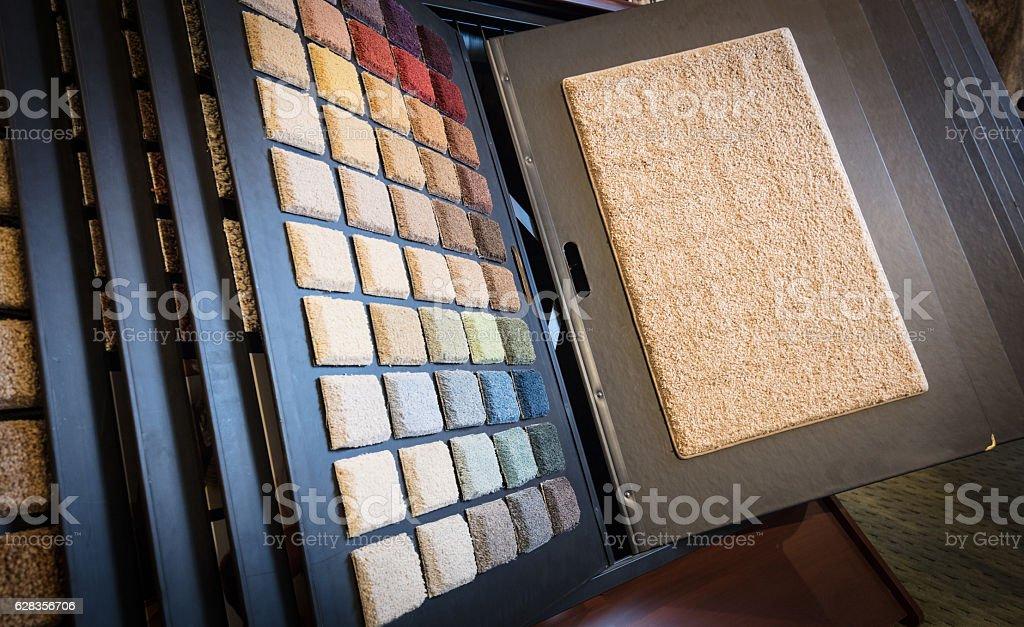 Amostras de carpete - foto de acervo