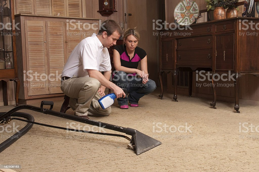 Carpet Steam Cleaning Service royalty-free stock photo