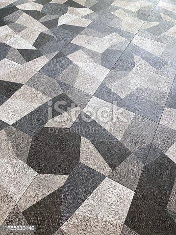 Full frame carpet with geometric shapes