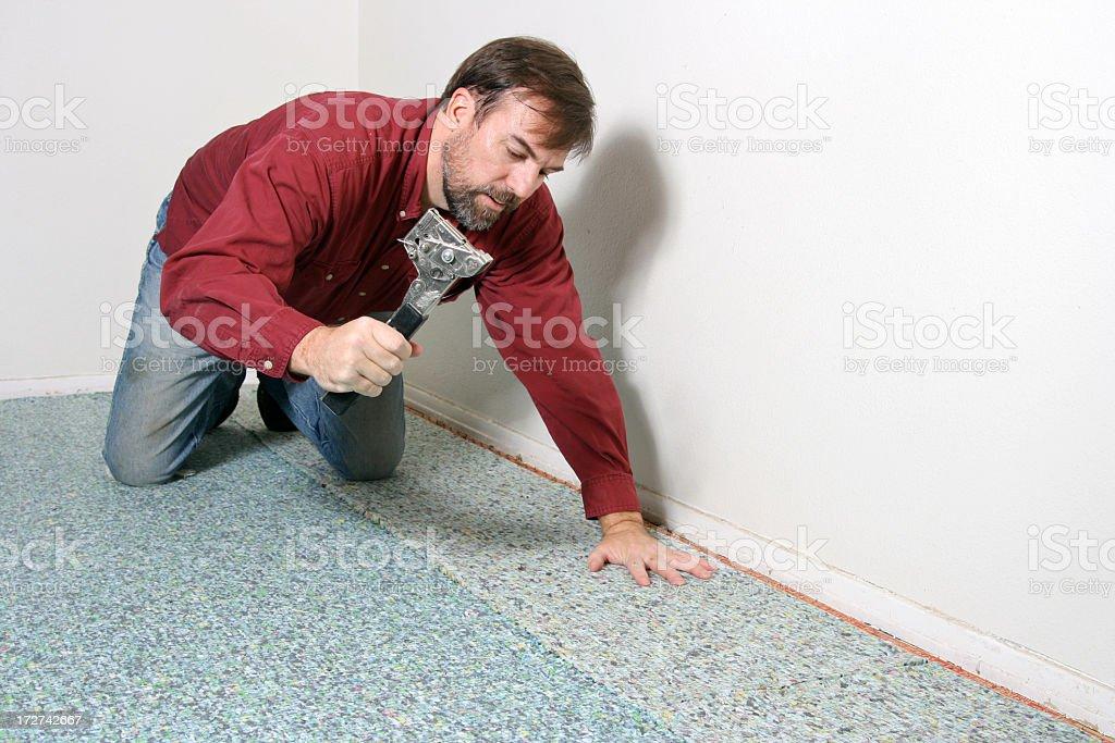 Carpet Work stock photo