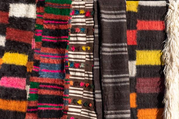 Carpets at the Market. stock photo