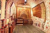 Oriental carpets in Istanbul. Turkey.