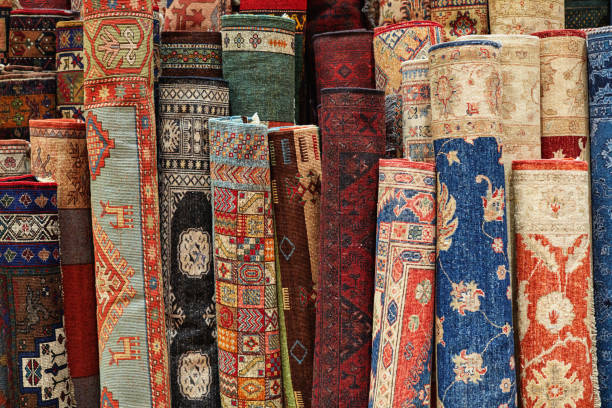 Carpets stock photo