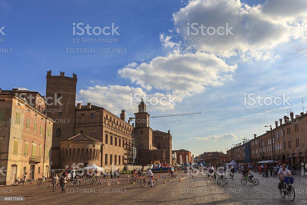 Carpi, Piazza dei Martini, Italy stock photo