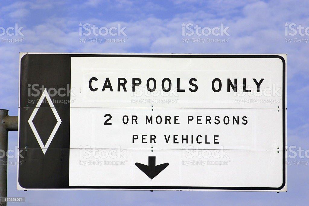 Carpool Lane royalty-free stock photo