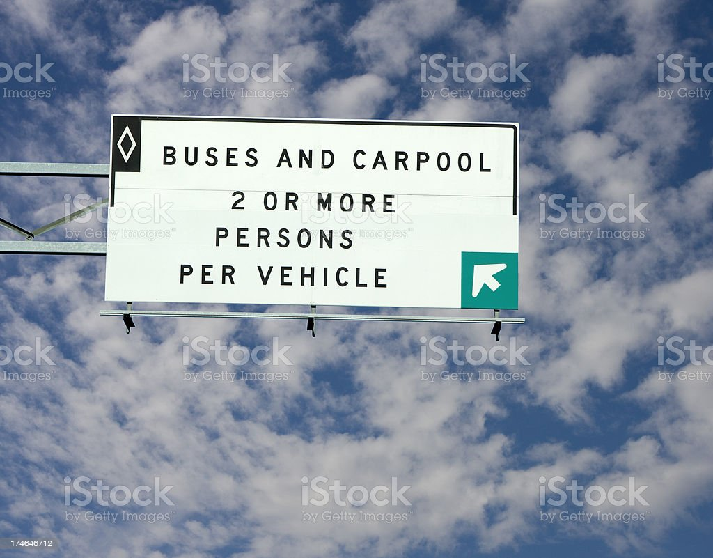 carpool road sign royalty-free stock photo
