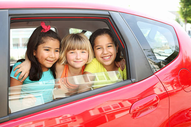 Carpooling stock photo