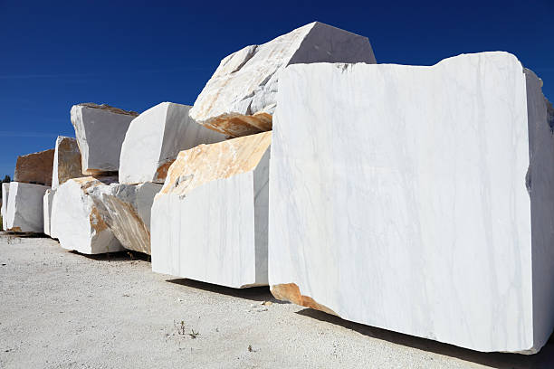 carrara marble stock photo