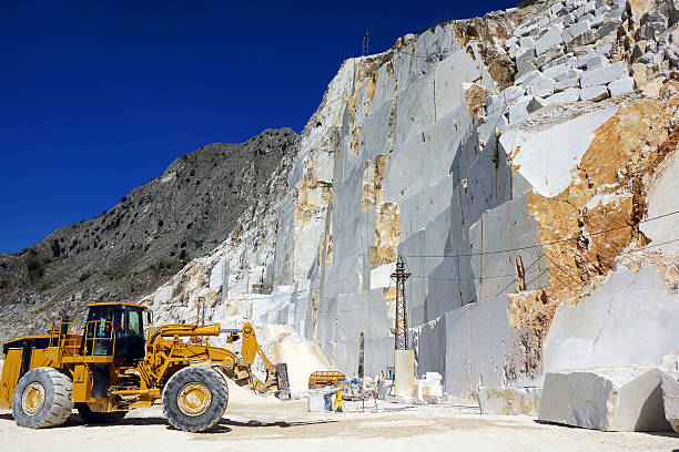 Carrara Marble Quarry in Italy stock photo