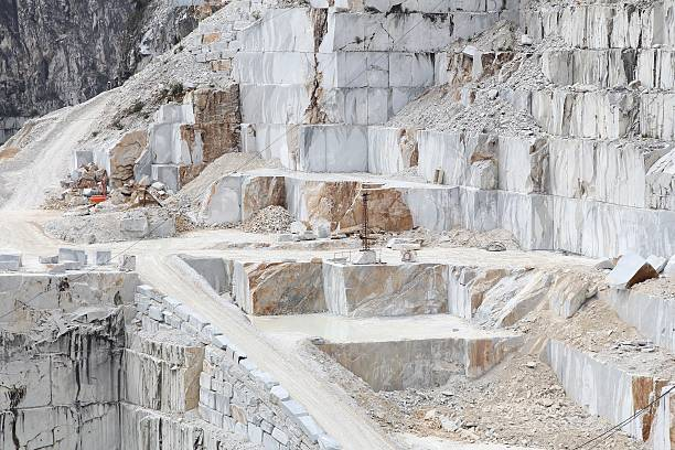 Carrara marble quarry stock photo