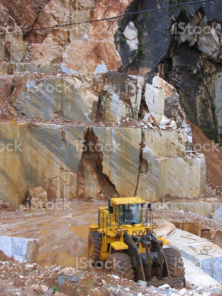 Carrara quarry royalty-free stock photo