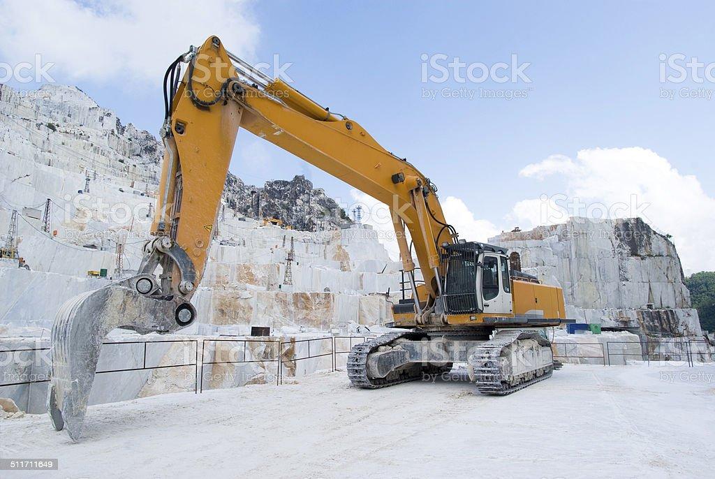 Carraran marble quarry stock photo
