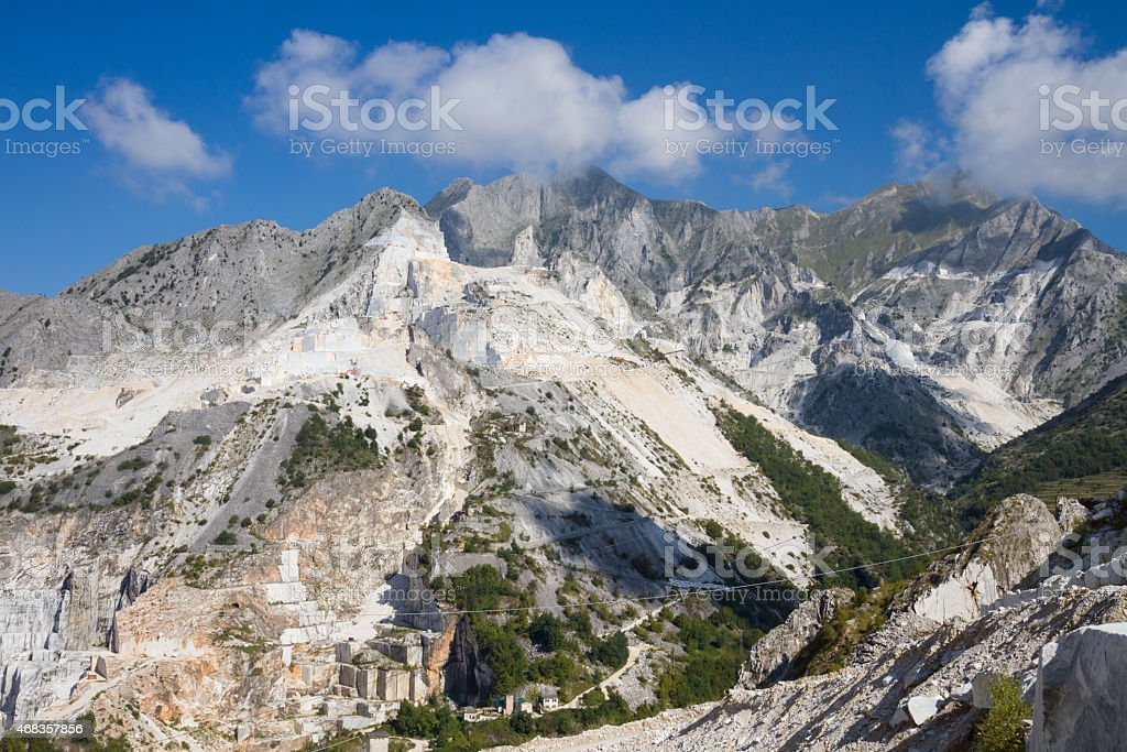 Carrara's marble quarries in Italy royalty-free stock photo