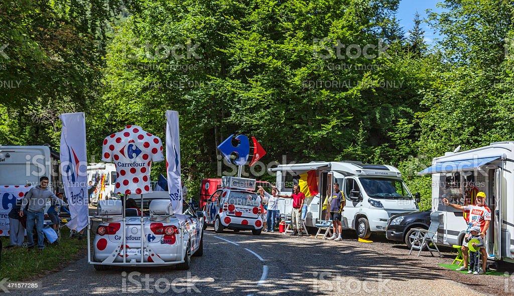 Carrefour Trucks royalty-free stock photo