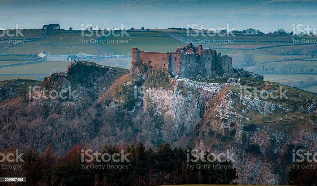 Carreg Cennen Castle stock photo