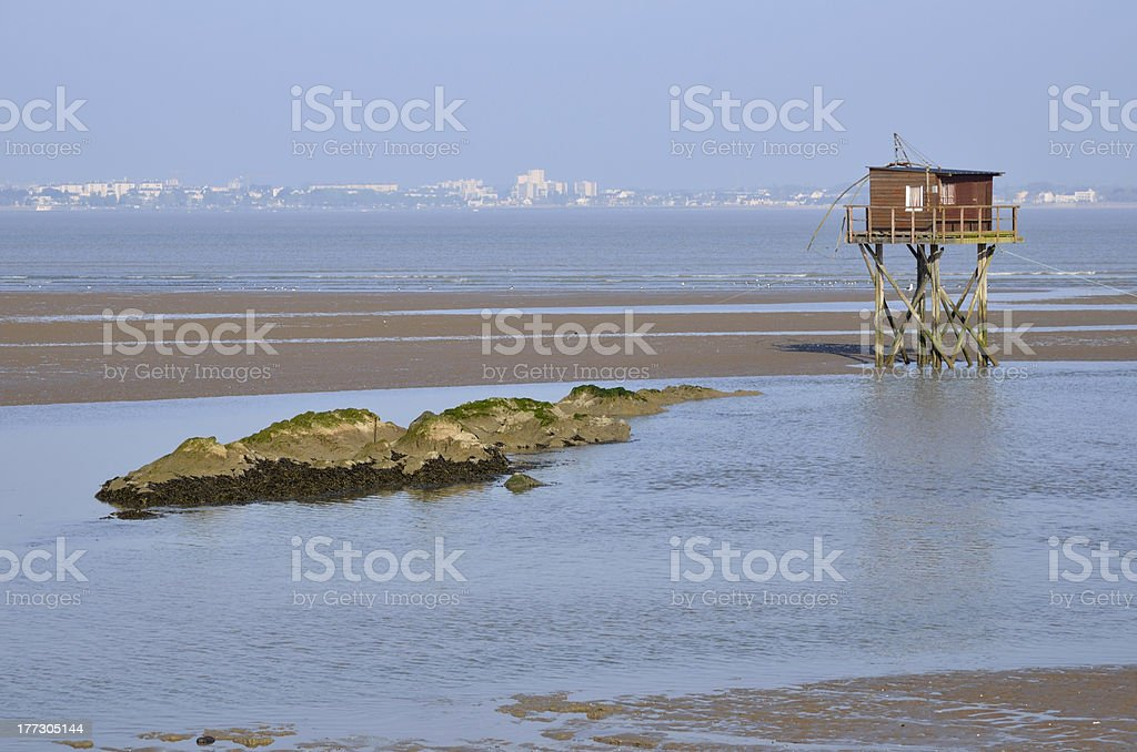 Carrelet at Saint Brevin les Pins in France stock photo