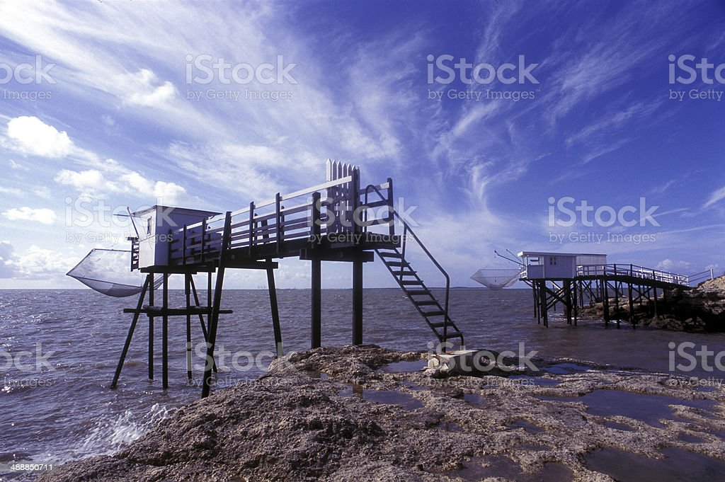 Carrelet landscape, France stock photo
