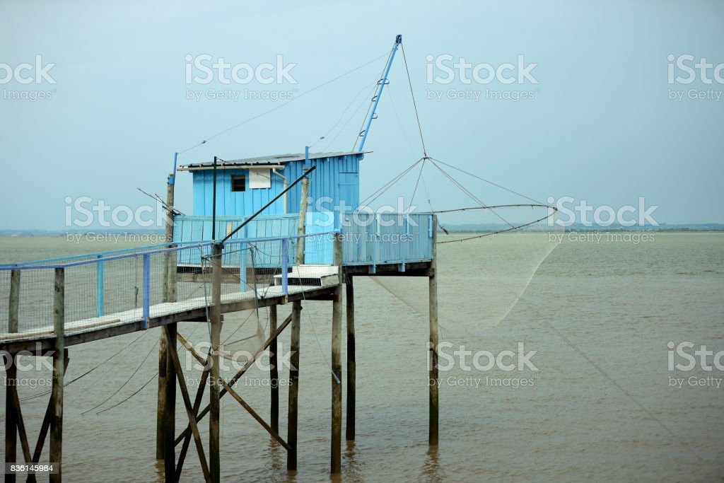 Carrelets de Gironde stock photo