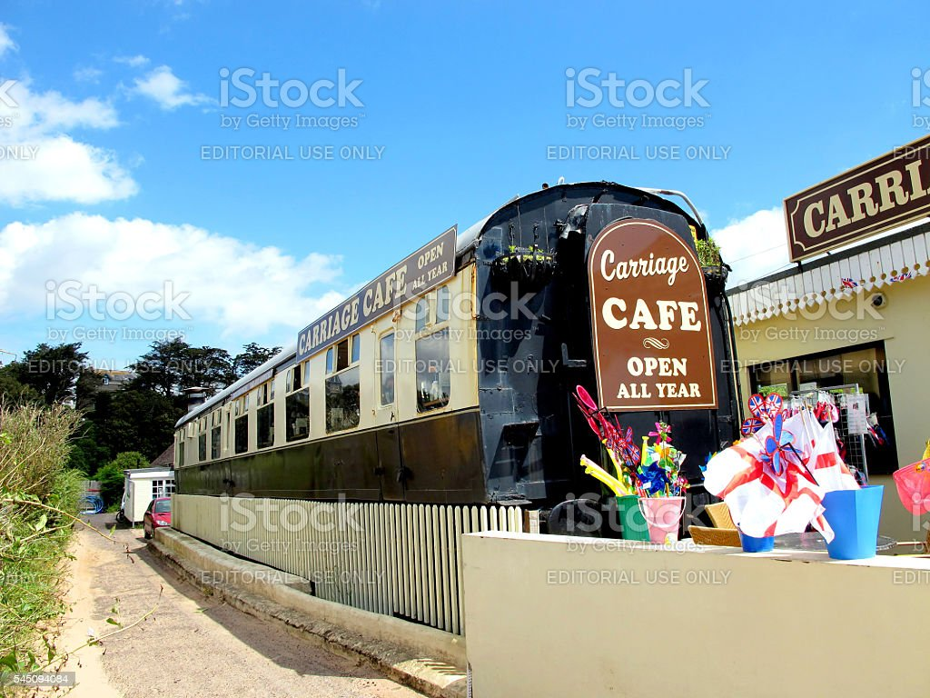 Carriage Cafe. stock photo