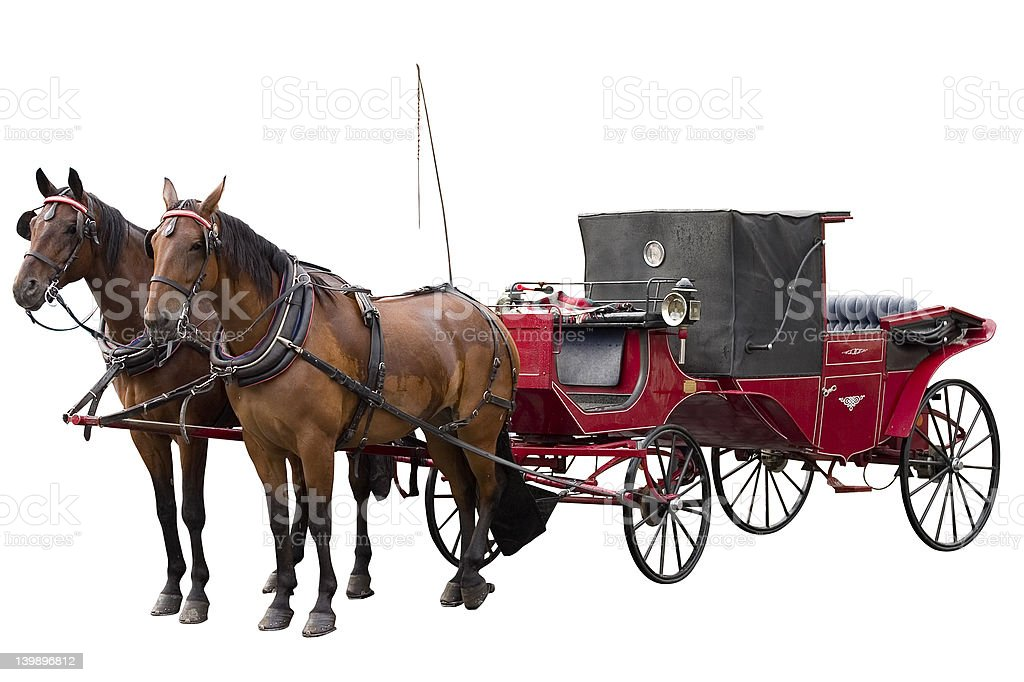 Carriage in white background stock photo