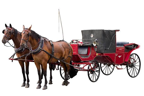 carriage in white background - 載客馬車 個照片及圖片檔