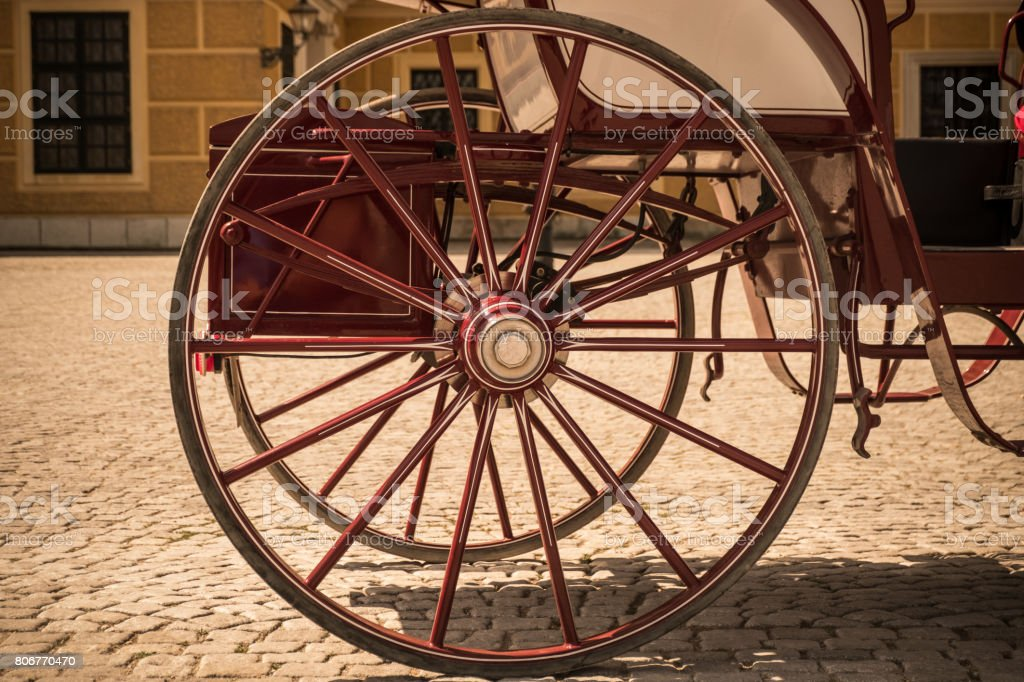 Carriage ride thru Vienna, Austria stock photo