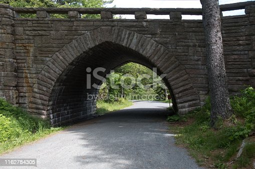 National Park Acadia Trail Bridge stone bar harbor New England