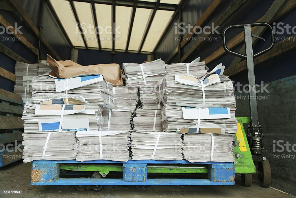 carriage with a newspaper royalty-free stock photo