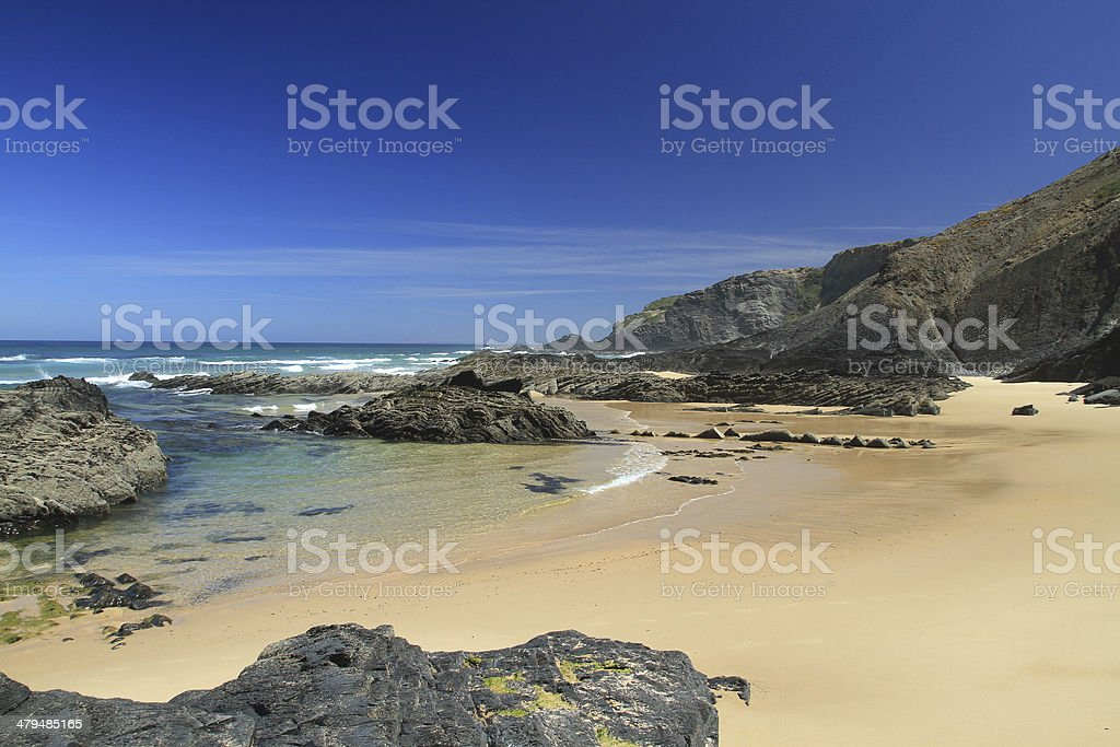 Carriagem beach stock photo