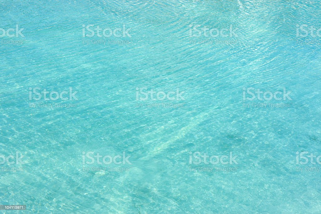 Carribean Blue royalty-free stock photo