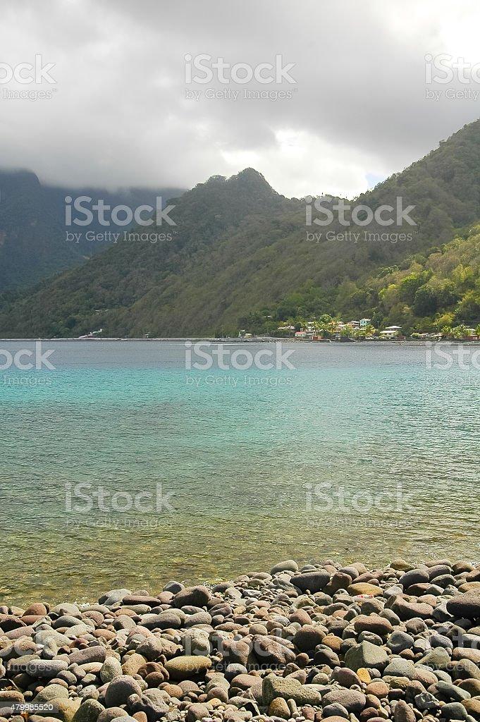 Carribean coastline - Dominica stock photo