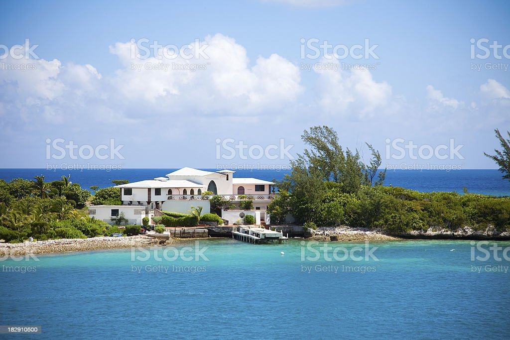 Carribean Home stock photo