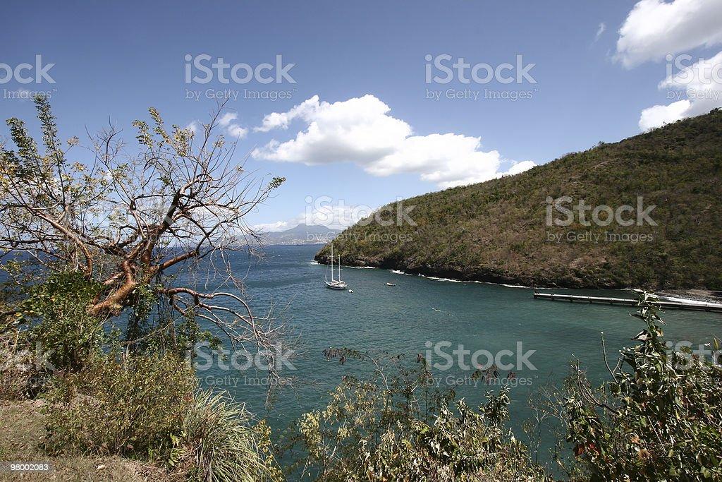 Carribean panoramic view royalty-free stock photo