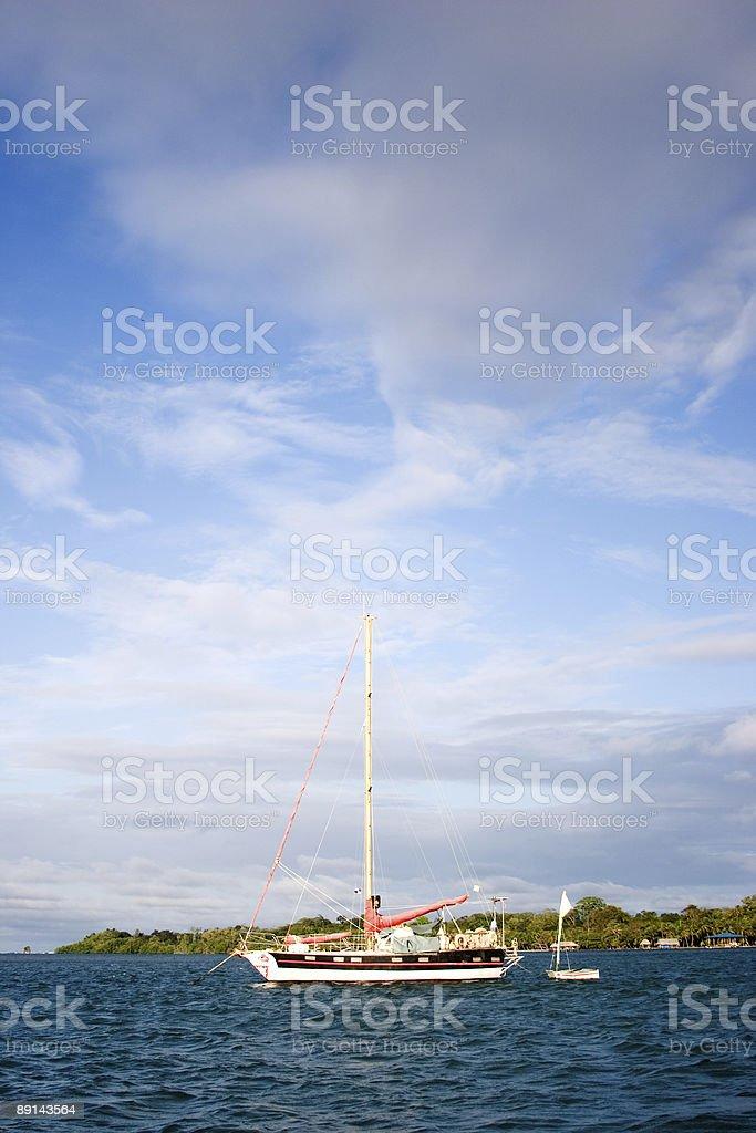 Carribean Sailboat royalty-free stock photo