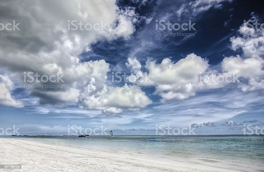 Carribean Storm royalty-free stock photo