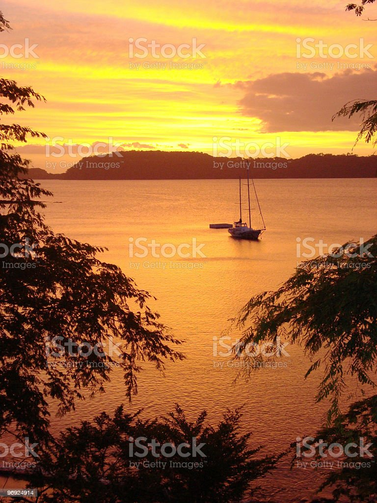 Carribean Sunset royalty-free stock photo
